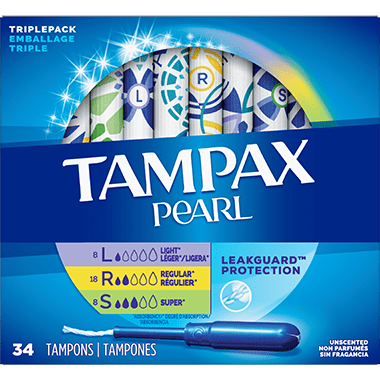 Tampax Triplepack Light/Regular/Super 34pack