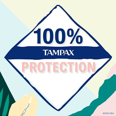 100% Tampax Protection