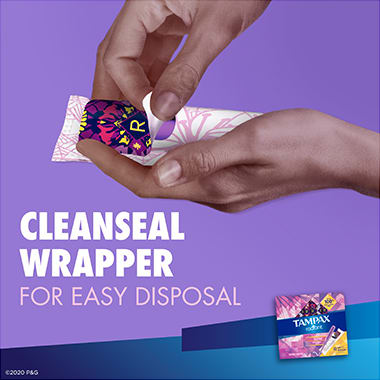 Tampax Radiant Regular Cleanseal Wrapper