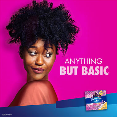Tampax Radiant Regular Anything But Basic