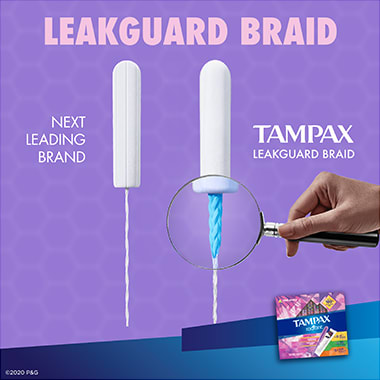 Tampax Radiant Triple-pack Leakguard Braid