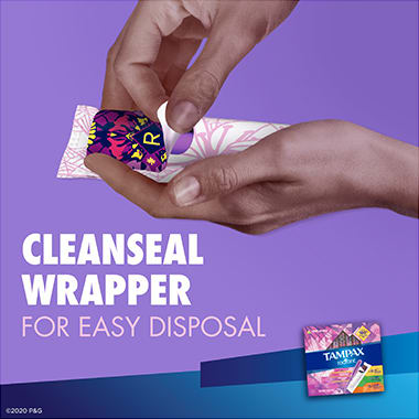 Tampax Radiant Triple-pack Cleanseal Wrapper