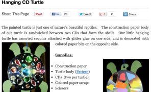Hanging CD Turtle Craft