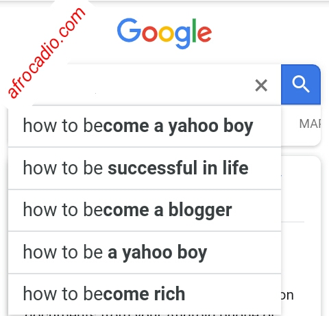 questions Nigerians ask Google: 1st set