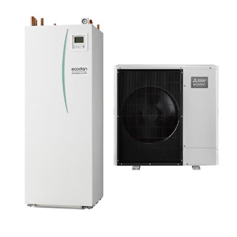 Pompe à chaleur air-eau Ecodan Hydrobox Duo Silence Zubadan R32 Mitsubishi