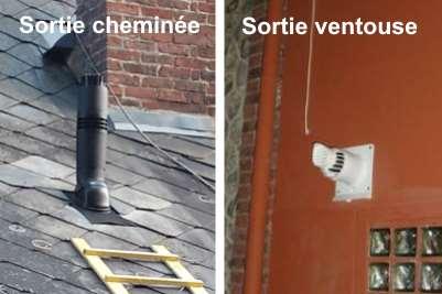 Différence entre ventouse et cheminée
