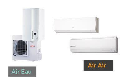 Différence entre pac air eau et air air