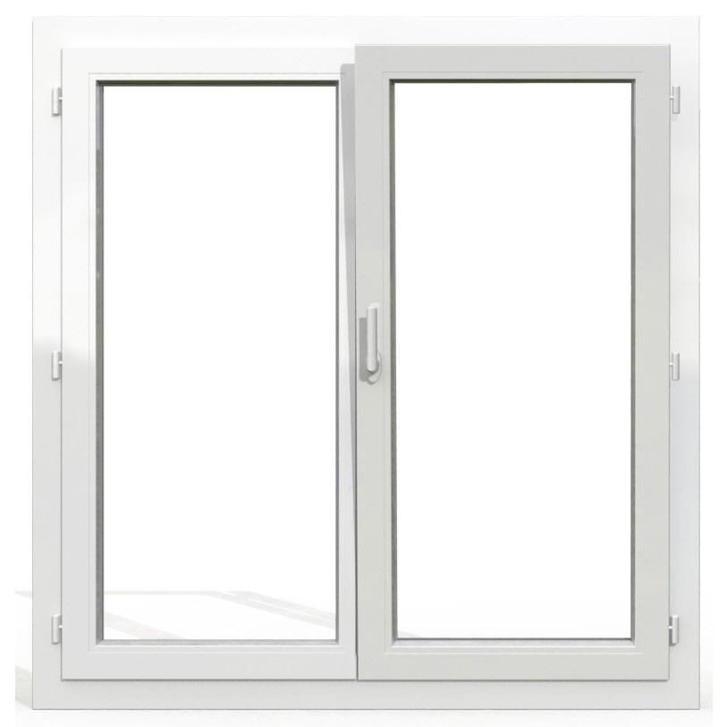 fenêtre oscillo-battante en pvc 2 vantaux