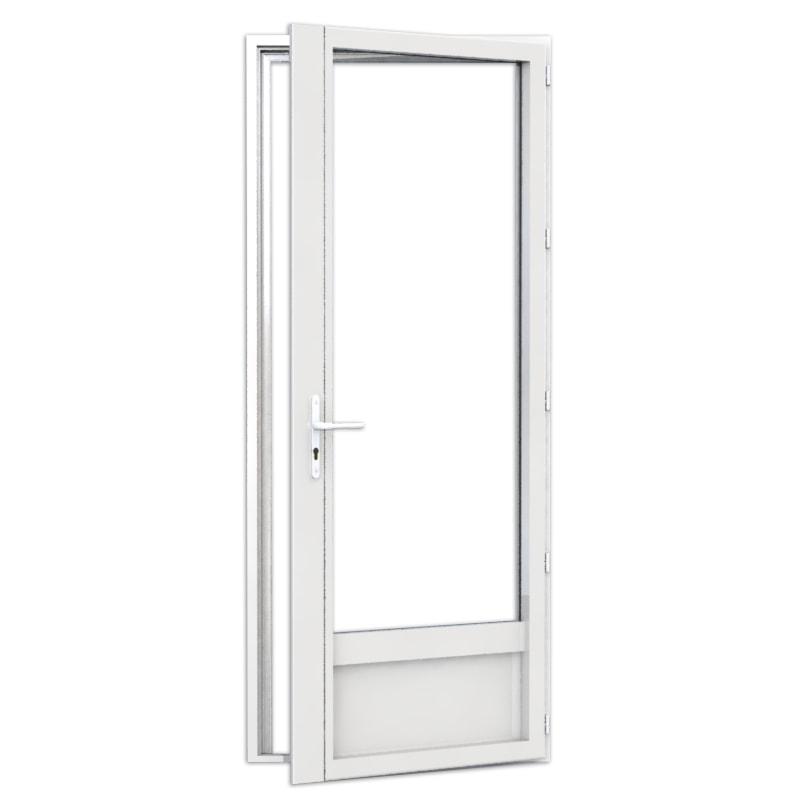 porte-fenêtre en aluminium 1 vantail avec soubassement