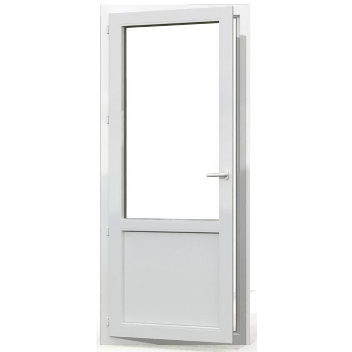 porte-fenêtre pvc semi-vitrée