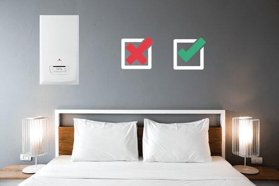 Installation chaudière dans une chambre