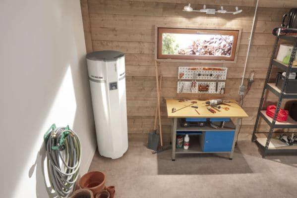 Installation chauffe-eau thermodynamique dans garage