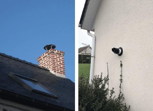 Sortie cheminée et ventouse