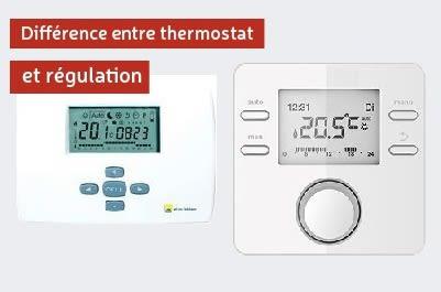 Différence entre thermostat et régulation