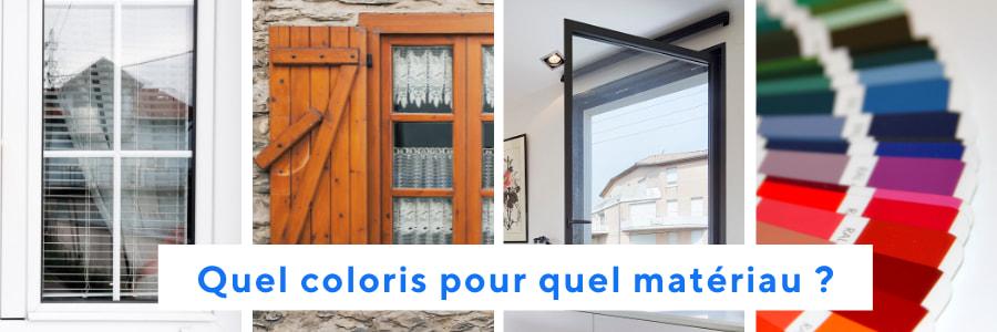 choix de la couleur des fenêtres selon le matériau