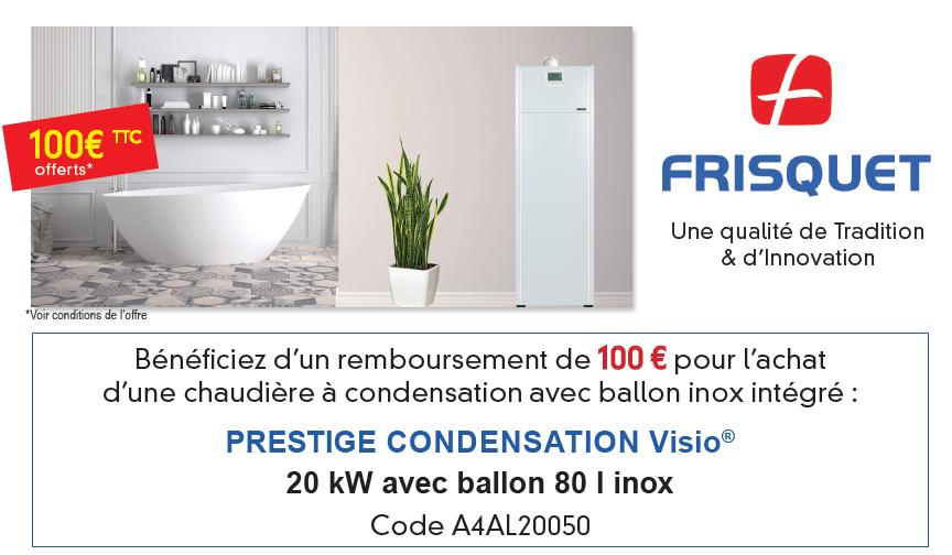 Offre quinzaine du gaz chaudiere prestige condensation frisquet