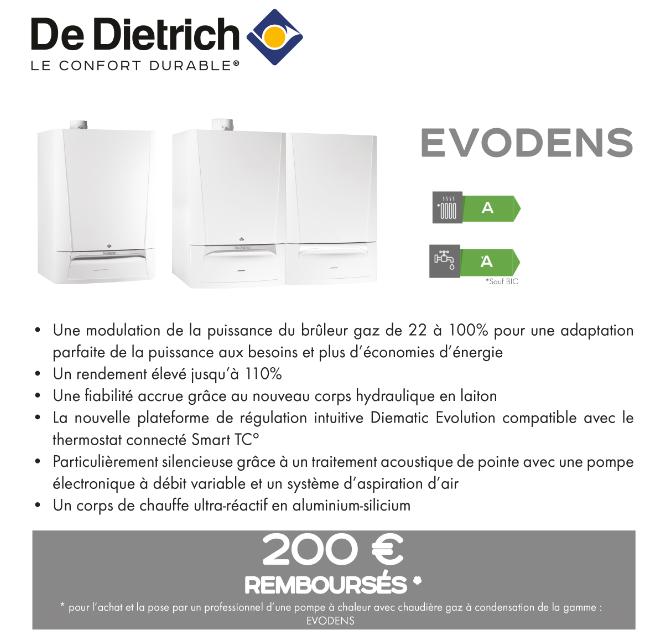Offre quinzaine du gaz Evodens De Dietrich