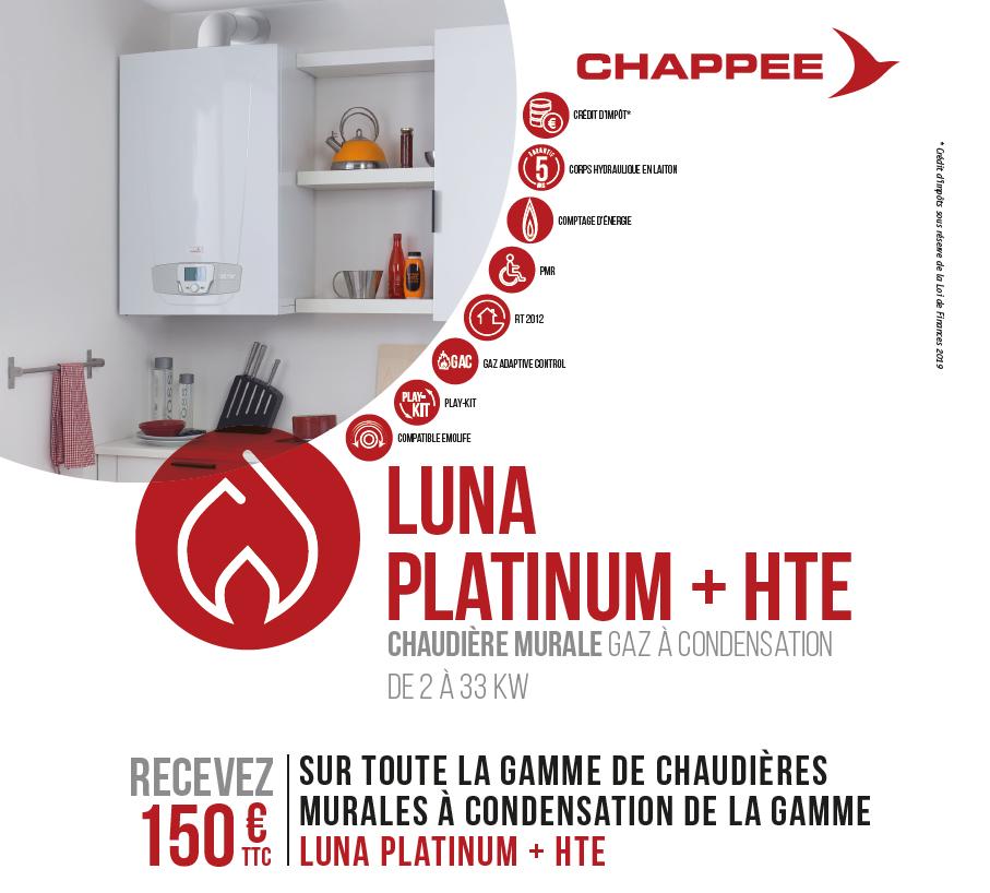 Offre quinzaine du gaz Luna Platinum Chappee