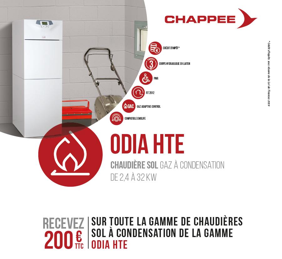Offre quinzaine du gaz Odia HTE Chappee