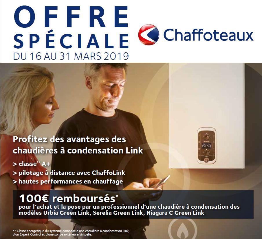 Offres chaudières Chaffoteaux Quinzaine du Gaz 2019