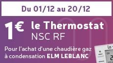 Offre Thermostat 1 euro NSC RF par ELM Leblanc