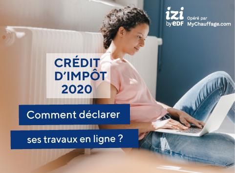 Tuto déclaration crédit d'impôt 2020
