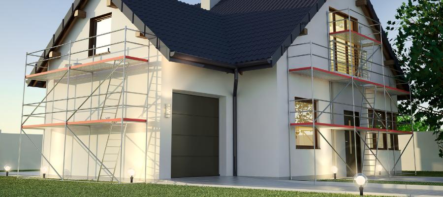 travaux d'isolation l'extérieur sur façade