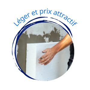 plaques de polystyrène expansé PSE