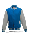 Kids 2-Tone College Sweatjacket turquoise/grey Front