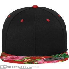 Hawaiian Snapback Black/Red vorne