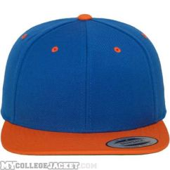 Classic Snapback 2-Tone Royal/Orange vorne