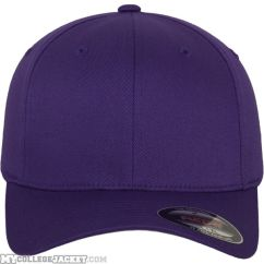 Flexfit Wooly Combed Purple vorne