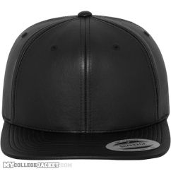 Full Leather Imitation Snapback vorne