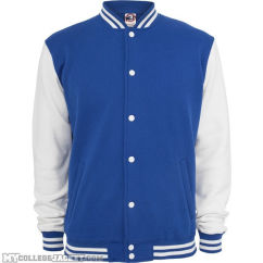 Kids 2-Tone College Sweatjacket Royal/White Front