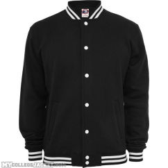 College Sweatjacket Black Front