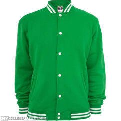 College Sweatjacket Green Front