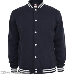 College Sweatjacket Navy Front