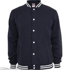 College Sweatjacket Navy Front