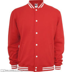 College Sweatjacket Red Front