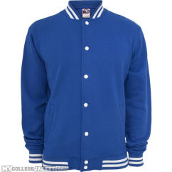 College Sweatjacket Royal Front