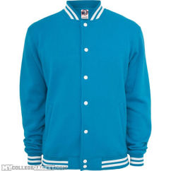 College Sweatjacket Turquoise Front