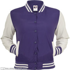Ladies Light College Jacket Purple/White Front