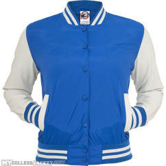 Ladies Light College Jacket Royal/White Front