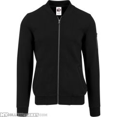 Sweat Bomber Jacket Black Front