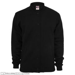 2-Tone College Sweatjacket Black/Black Front