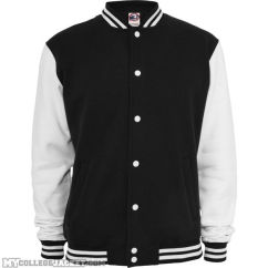 2-Tone College Sweatjacket Black/white Front