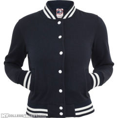 Ladies College Sweatjacket Navy Front