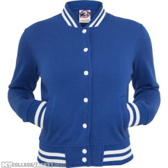 Ladies College Sweatjacket Royal Front