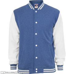 Melange College Sweatjacket Blue/White Front