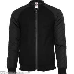 Diamond Nylon Wool Jacket Black/Black Front